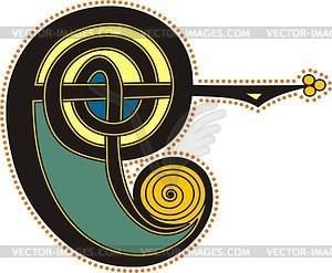 Keltischer Bchstabe E - Vektor-Bild