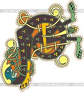 Keltischer Buchstabe P - Vektor-Design