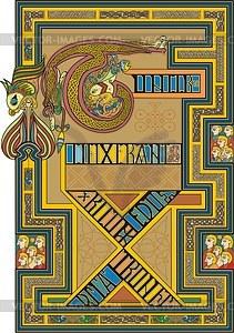 Kreuzigung Christi (B. of Kells) - Vektorgrafik