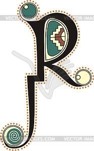 Keltischer Buchstabe R - Vector-Clipart EPS