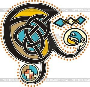 Keltischer Bchstabe E - Vektor-Clipart / Vektor-Bild