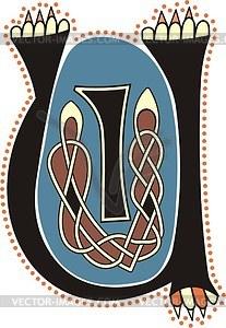 Keltische Buchstaben UI  - Vektorgrafik