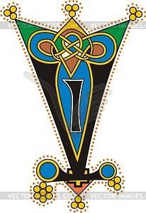 Keltische Buchstaben VI - Vektorgrafik