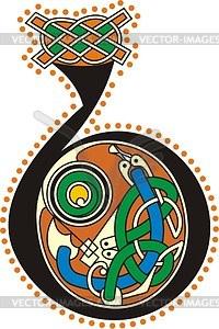 Keltischer Buchstabe B - Klipart