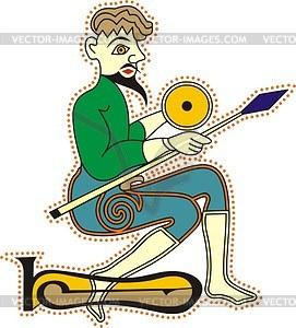 Keltischer Mönch - Vektorgrafik