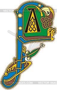 Keltischer Buchstabe F - Vector-Illustration