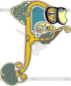 Keltischer Buchstabe F - Vektor-Clipart / Vektor-Bild