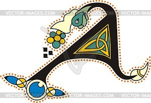 Keltischer Buchstabe A - Vector-Clipart / Vektor-Bild