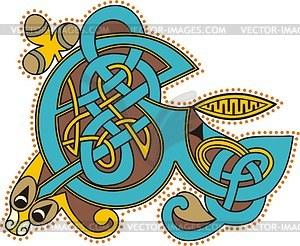Keltischer Bchstabe E - Klipart