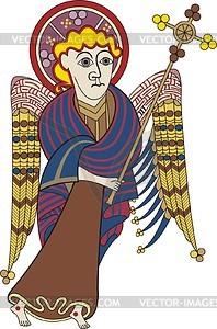 Mann - Symbol von Matthäus Evangelist (B. of Kells) - Vektorgrafik