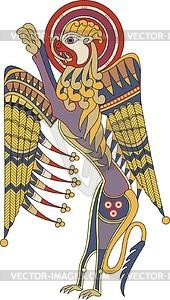 Löwe - Symbol von Mark Evangelist (B. of Kells) - Vektorgrafik