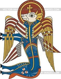 Kalb - Symbol von Lukas Evangelist (B. of Kells) - Vektorgrafik