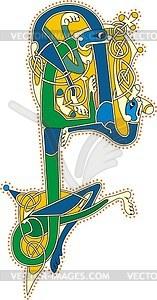 Keltischer Buchstabe A - Royalty-Free Vektor-Clipart