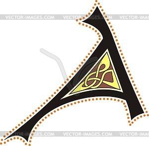 Keltischer Buchstabe A - Stock Vektor-Bild