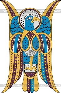 Keltische Cliparts (Adler von Johannes, B. von Dimma) - Vektorgrafik