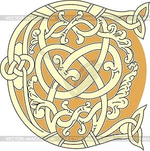 Keltischer Buchstabe C - Stock Vektor-Bild