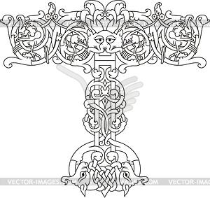 Keltischer Buchstabe T - Clipart-Bild