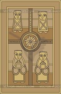 Vier Evangelisten - Vektorgrafik
