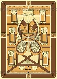 Evangelist Johannes - Vektorgrafik