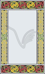 Keltischer Rahmen (B. von Durrow) - Vektorgrafik