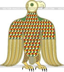 Keltisches Clipart - Adler (Symbol des Evangelist Markus, B. von Durrow) - Vektorgrafik
