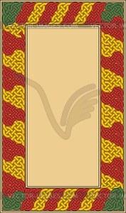 Keltischer Zierrahmen - Vektorgrafik