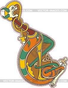 Keltischer Buchstabe L - Vektorgrafik