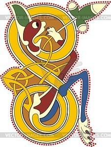 Keltischer Buchstabe S - Vector-Clipart EPS