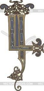 Keltischer Buchstabe - Vektor-Clipart / Vektor-Bild
