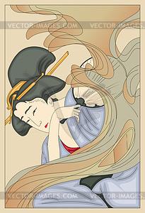 Japanerin (von Yoshitoshi) - Vektorgrafik