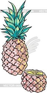Ananas - Vektor-Klipart