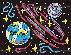 Weltraum Landschaft - Vektor-Bild