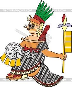 Aztekischer Gott Painal - Vektorgrafik