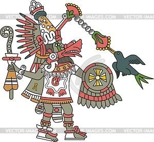 Aztekischer Gott Quetzalcoatl - Vektor-Clipart EPS