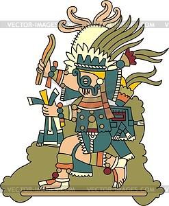 Tlaloc - aztekische Regengottheit - Vektorgrafik