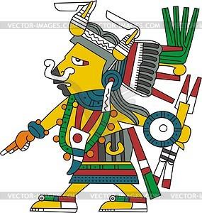 Tlazoteotl - aztekische Göttin der Wollust und der verbotenen Liebe - Vektorgrafik