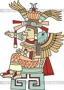 Xochiquetzal - aztekische Göttin der Liebe - Vektorgrafik