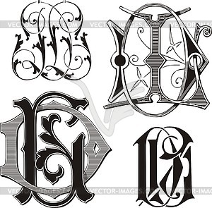 Justsomethingimade com 2011 06 three inital monograms free clip art