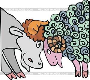 Stier und Widder - Vektorgrafik