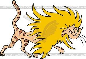 Katze mit Mähne - Vektorgrafik