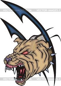Hund Tattoo - vektorisierte Abbildung