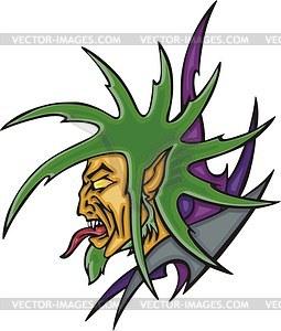 Grüner Kobold Avatar - Vektorgrafik