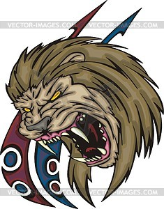 Lion tattoo - vector clipart
