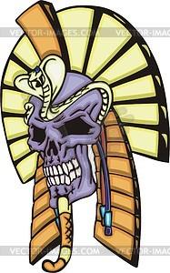 Tattoo von Ägyptischen Pharaos-Schädel  - Vektorgrafik