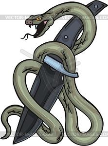 Schlange und Messer - Vektorgrafik