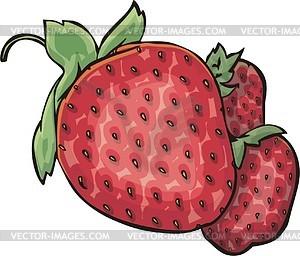 Erdbeeren - Vector-Clipart EPS