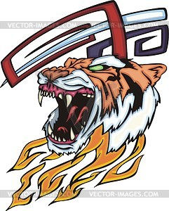 Tiger head flame - vector clipart