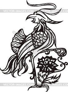 Chinesischer Vogel Fenghuang - Vektorgrafik