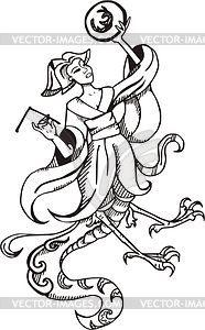 Chinesische Göttin Nüwa - Vektorgrafik