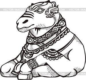 Bull Nandi - vector clipart